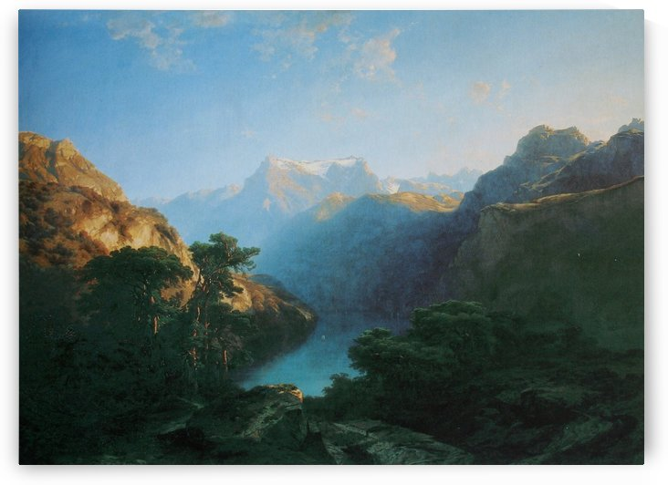Mentone, 1864 by Alexandre Calame
