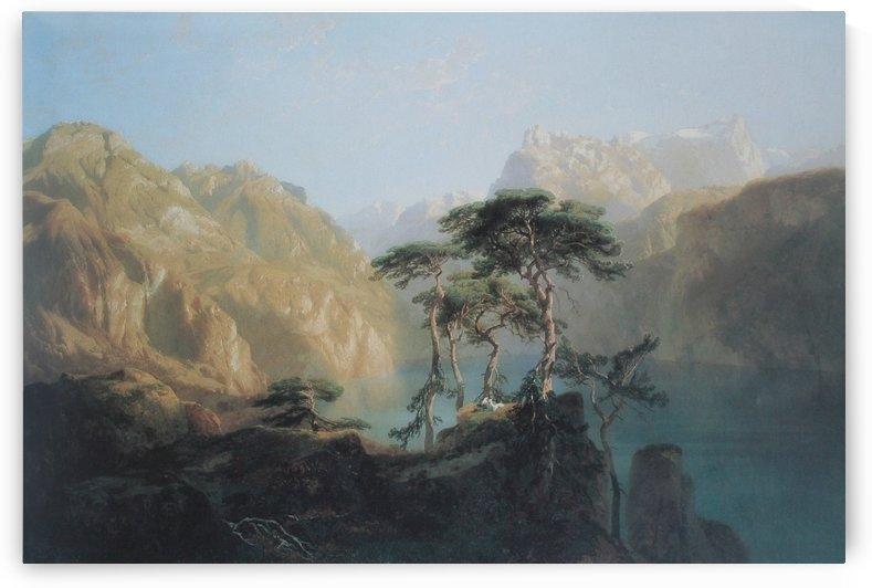 Der Vierwaldstattersee 1851 by Alexandre Calame