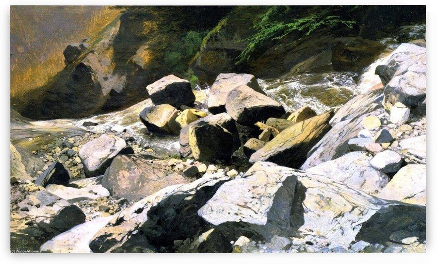 The River Lutschine near Lauterbrunnen by Alexandre Calame