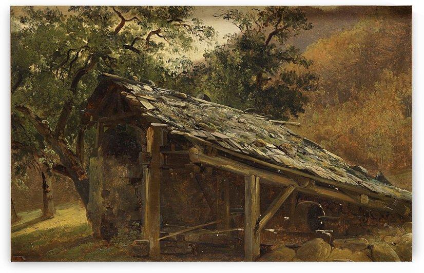 Fabrique dans le Valais by Alexandre Calame