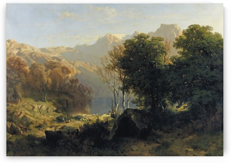 Lucerne, Vevey and Lakes by Alexandre Calame
