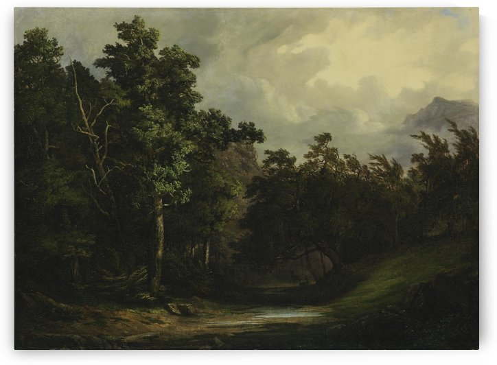 Forest in a storny wheater by Alexandre Calame