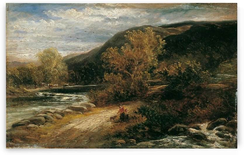 A river from the mountains by Alexandre Calame