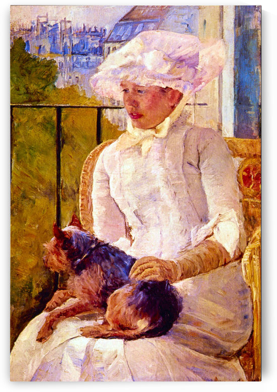 Woman with a Dog by Cassatt by Cassatt