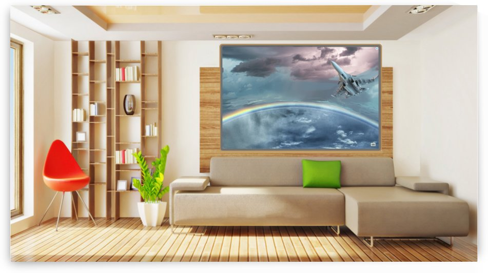 Art rainbow storm   on wall 1 by pinchos tewel