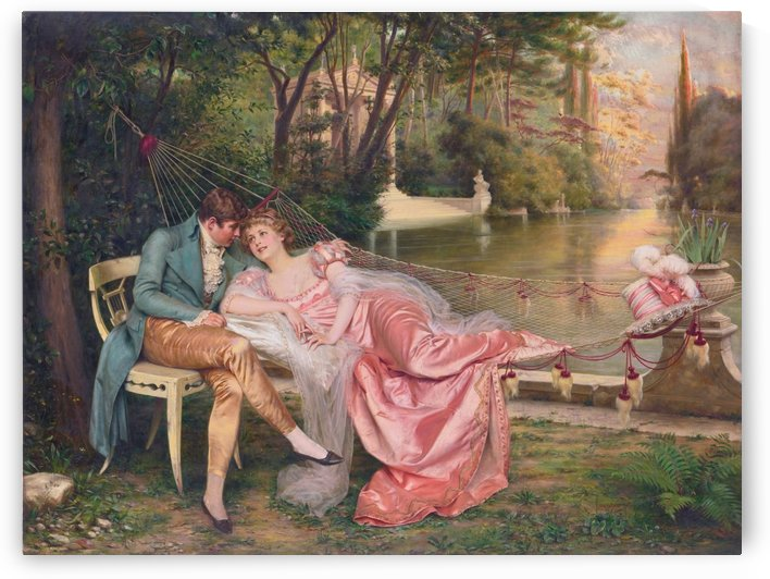 Flirtation in a park by Frederic Soulacroix