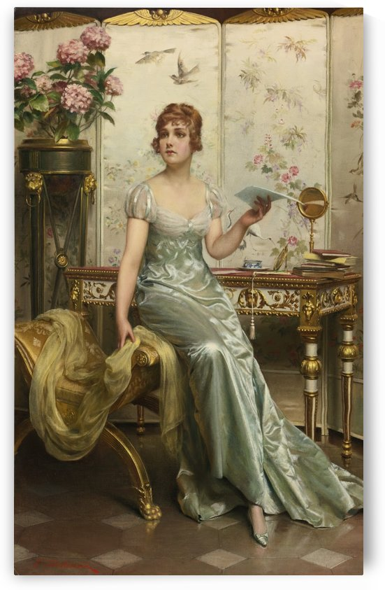 A lady and a letter by Frederic Soulacroix