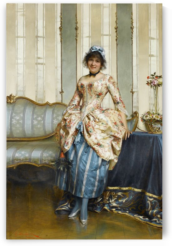 An elegant maid by Frederic Soulacroix