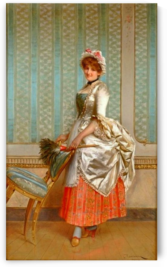 Elegantly attired servant by Frederic Soulacroix