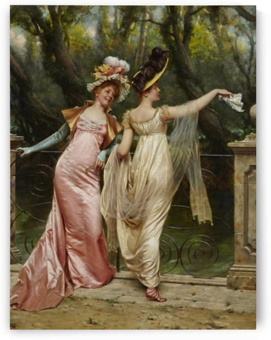 Ladies wispering by Frederic Soulacroix