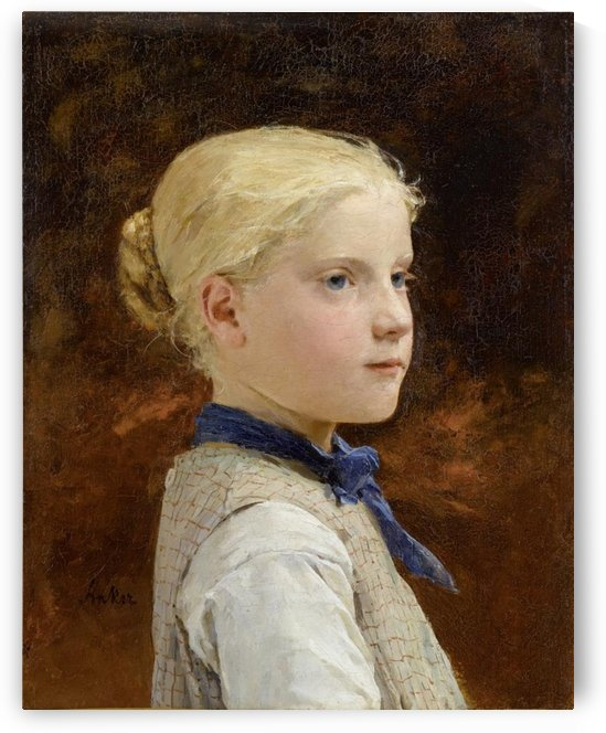 Portrait of a girl by Etienne Dinet