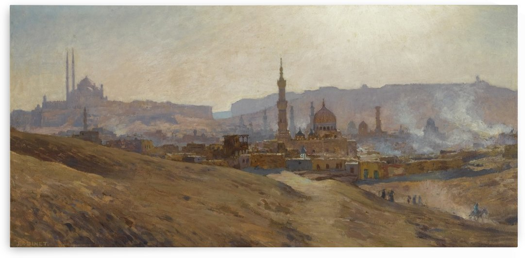 Le Caire brume by Etienne Dinet