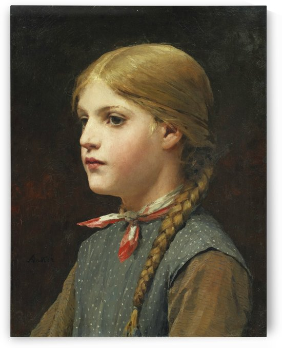 A young girl by Etienne Dinet