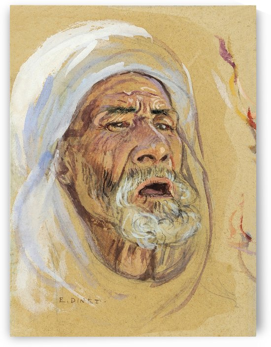 Old man from Medina by Etienne Dinet