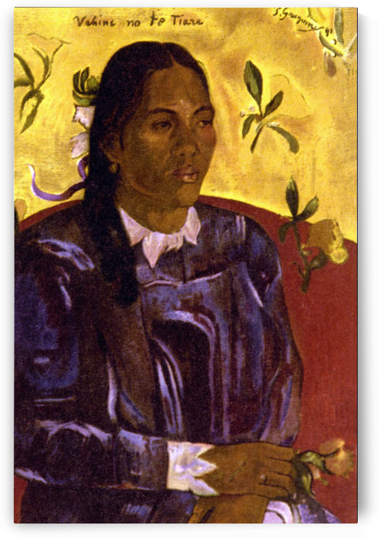 Woman with Gardenia by Gauguin by Gauguin