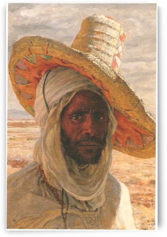 An Algerian man with his hat by Etienne Dinet