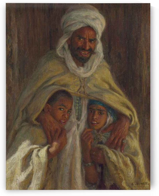 A man and his children by Etienne Dinet