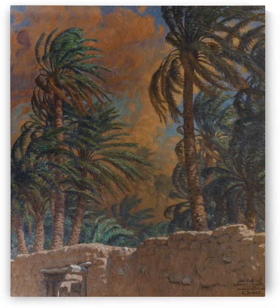 Palm trees in the evening by Etienne Dinet