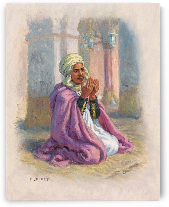 A man in prayer by Etienne Dinet
