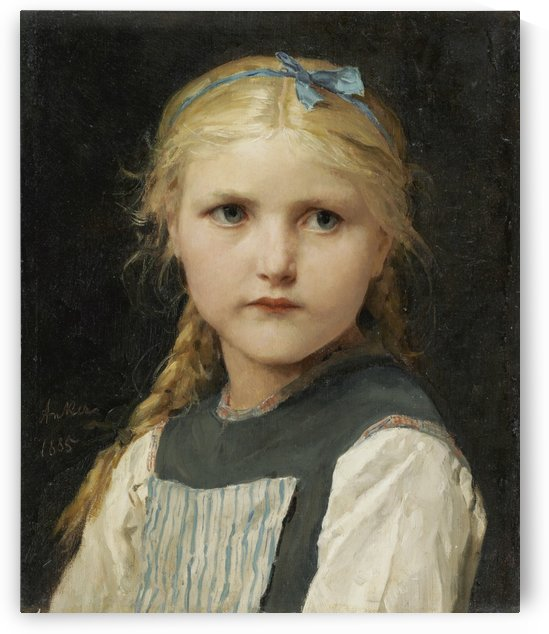 Portrait of a young girl by Etienne Dinet