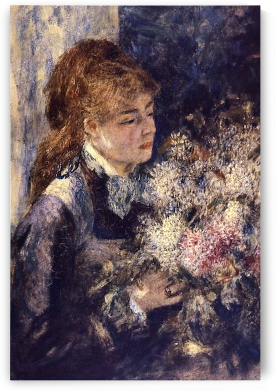 Woman with Lilacs by Renoir by Renoir