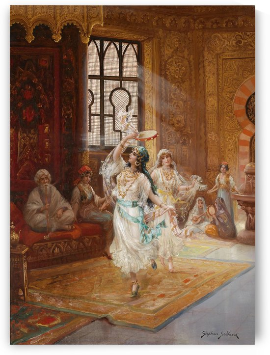 Women dancing by Gaston Bussiere