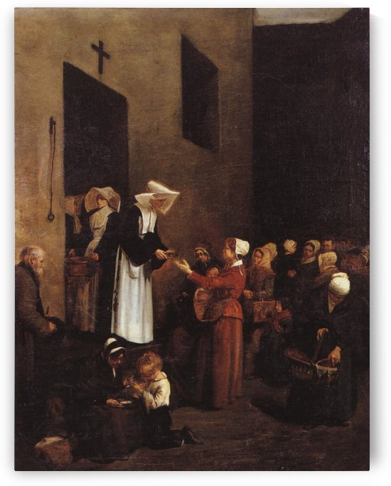 La charite by Francois Bonvin