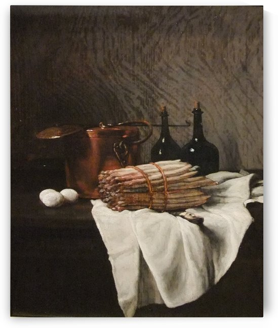 Still life on withe cloth by Francois Bonvin