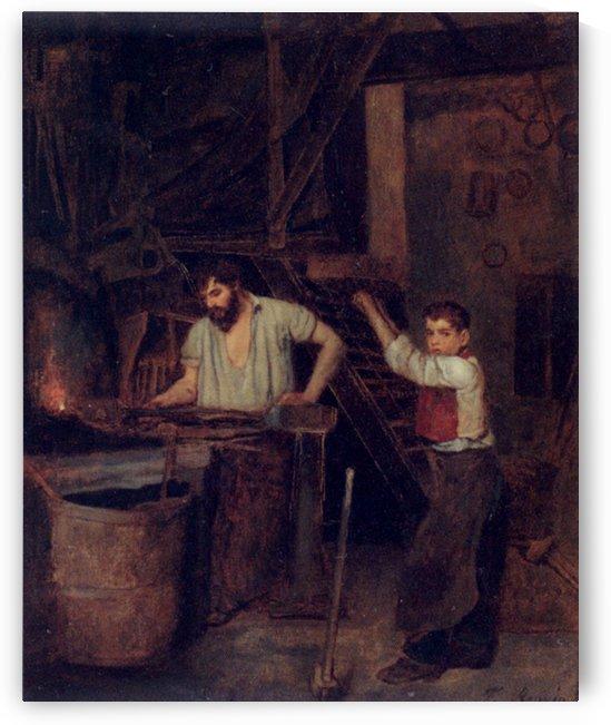The blacksmiths by Francois Bonvin