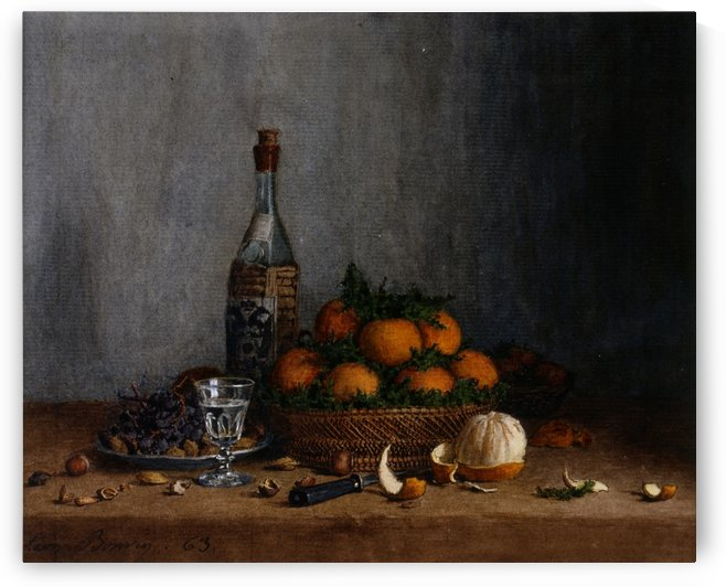 Still Life with Basket of Oranges by Francois Bonvin