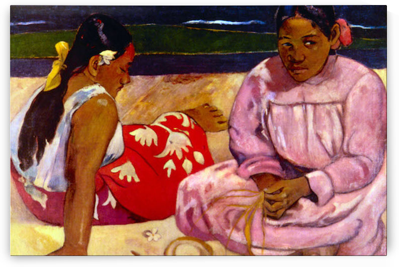 Women of Tahiti by Gauguin by Gauguin