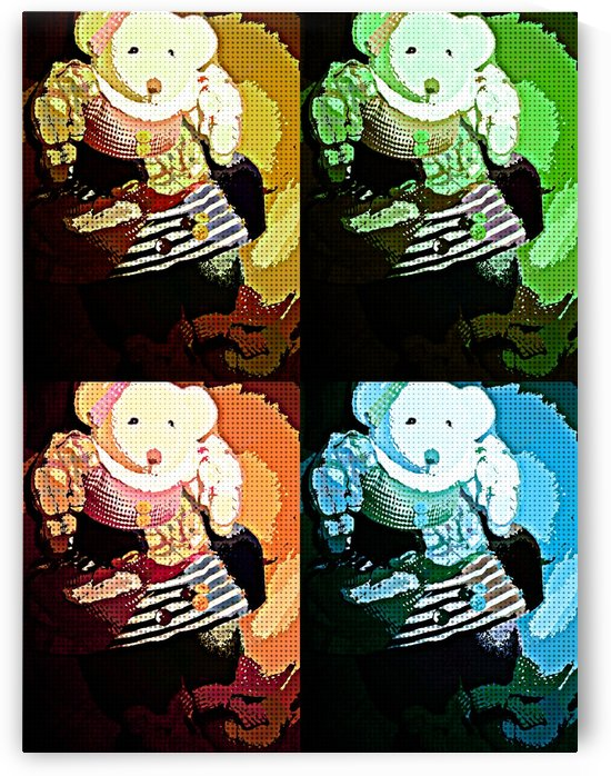 Teddy pop art by Crystal Michelle Caraway