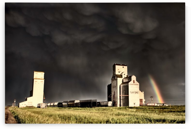 Storm and Rainbow Saskatchewan Canada by Mark Duffy