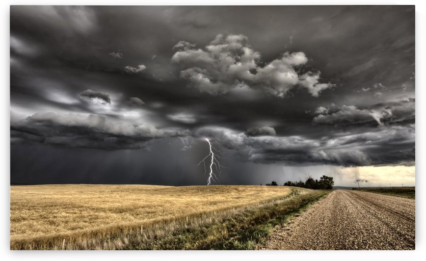 Storm and Lightning Saskatchewan Canada by Mark Duffy