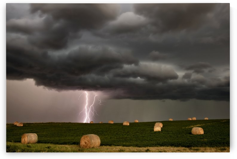 Storm  and Lightning Saskatchewan by Mark Duffy