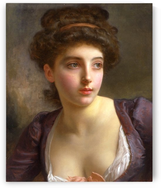A court beauty by Gustave Jean Jacquet