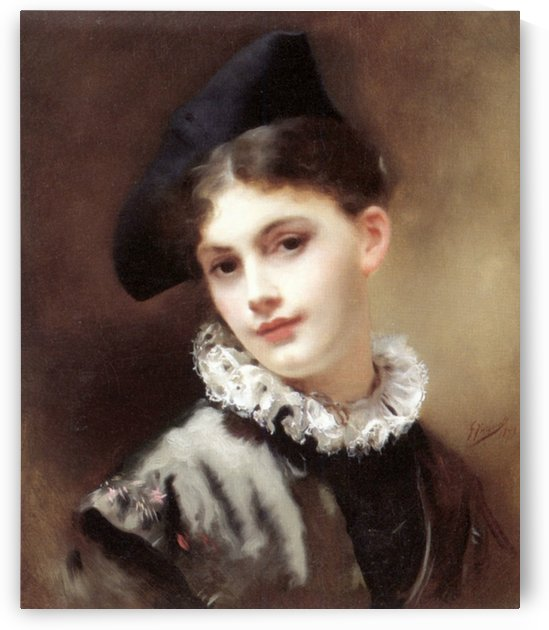 A coquettish smile by Gustave Jean Jacquet