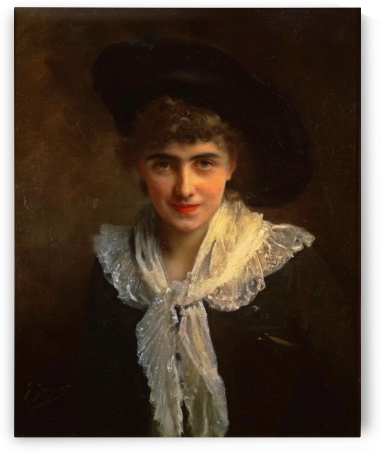 Portrait of Madame Roland by Gustave Jean Jacquet
