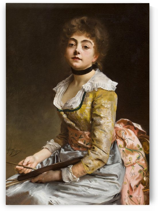 A painter by Gustave Jean Jacquet