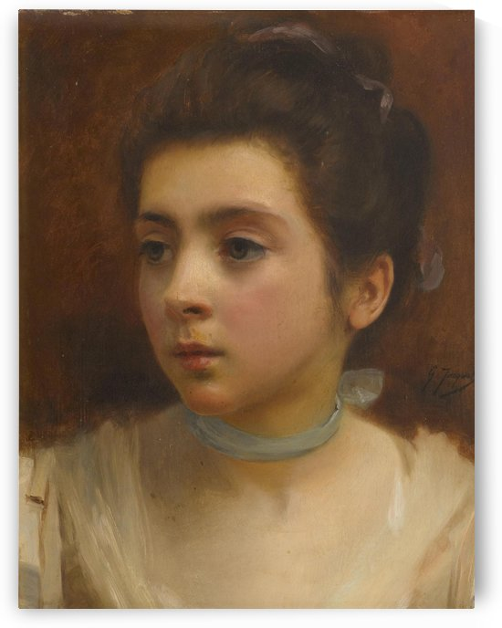 Young lady by Gustave Jean Jacquet