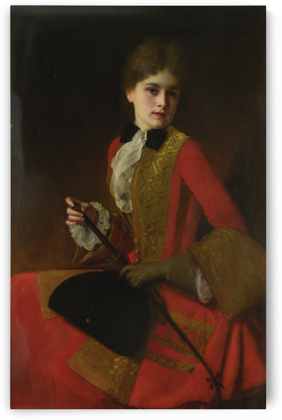Girl in a riding habit by Gustave Jean Jacquet