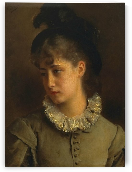 A solemn beauty by Gustave Jean Jacquet