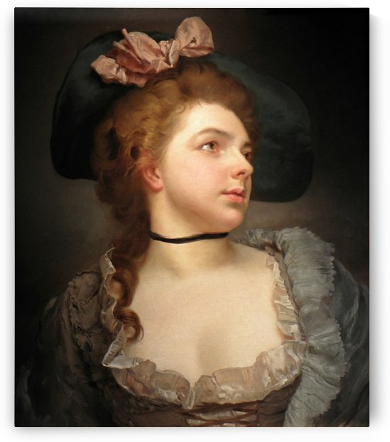 Lady with hat by Gustave Jean Jacquet