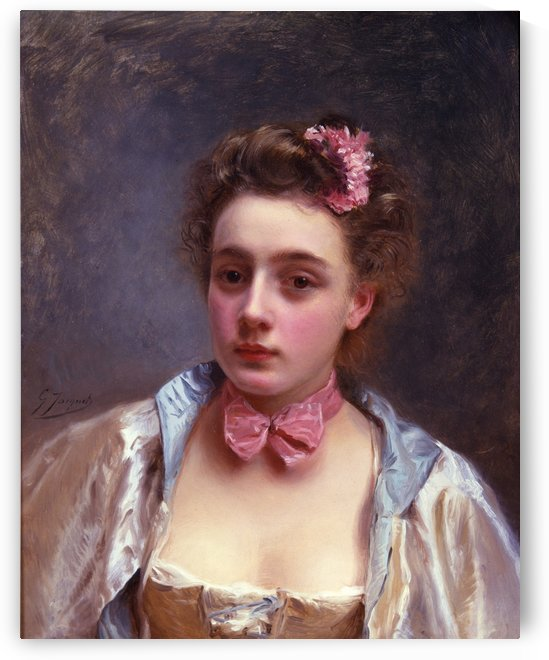 Dressed for the ball by Gustave Jean Jacquet