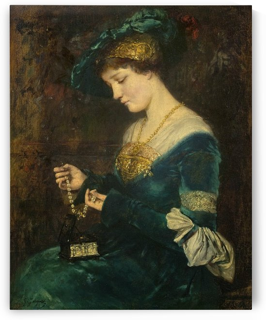 The jewelry box by Gustave Jean Jacquet