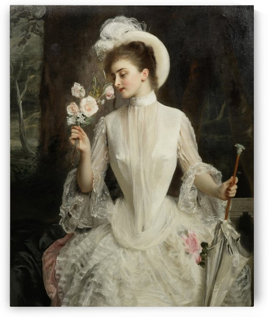 An elegant bouquet by Gustave Jean Jacquet