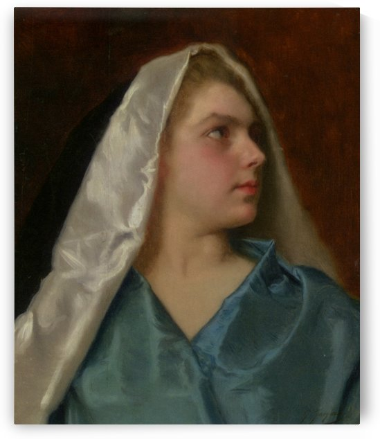 Culturally diverse girl with veil by Gustave Jean Jacquet