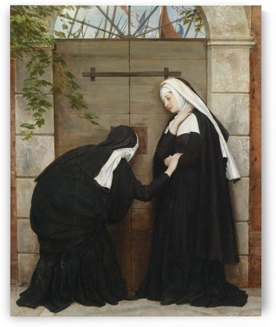 Nuns under threat by Eugene de Blaas