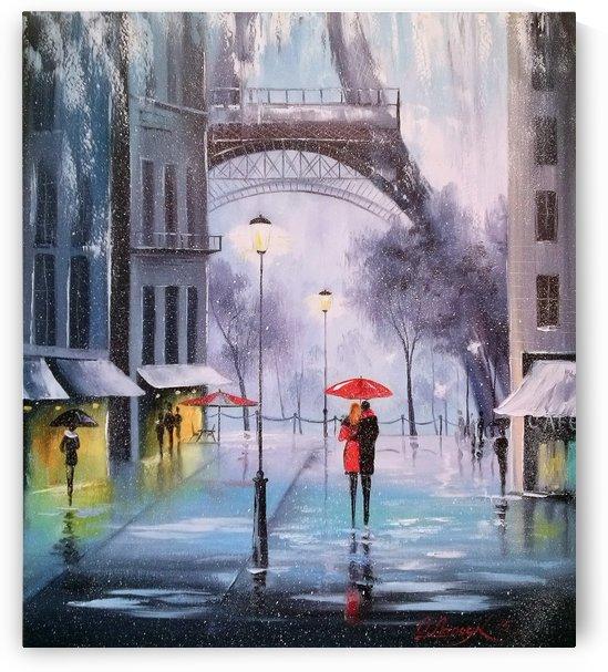 Первый снег в Париже   by Olha Darchuk