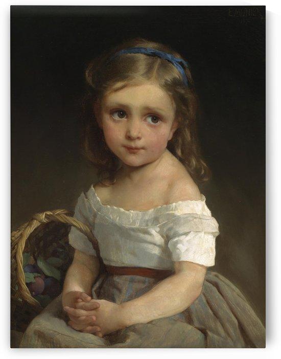 Madchen mit Zwetschgenkorb 1875 by Emile Munier